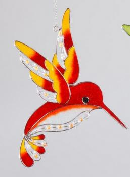 Fensterschmuck Eisvogel Tiffany orange, 25 cm