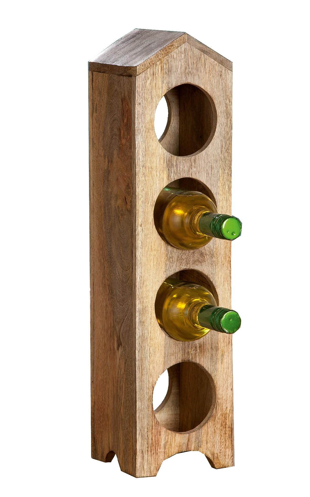 flaschenhalter aus mango holz 55 cm g nstig bei dekodor. Black Bedroom Furniture Sets. Home Design Ideas