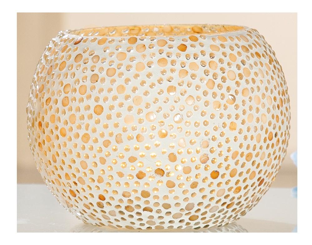 teelichthalter aus glas in rund 16 cm g nstig bei dekodor. Black Bedroom Furniture Sets. Home Design Ideas