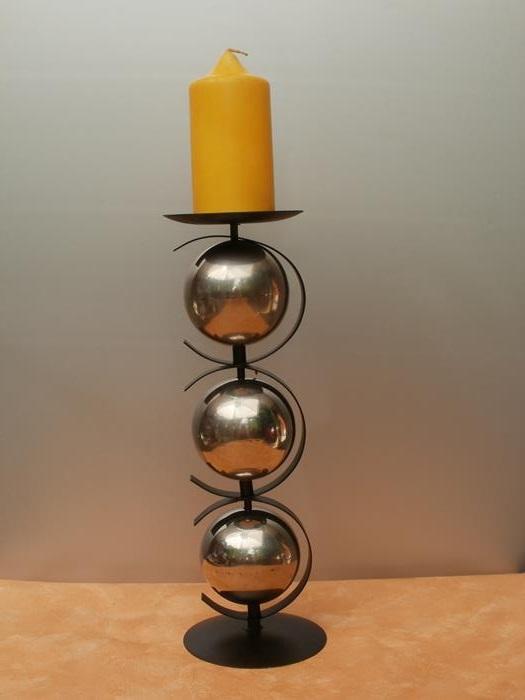 kerzenst nder kugel 34 cm hoch g nstig bei dekodor. Black Bedroom Furniture Sets. Home Design Ideas