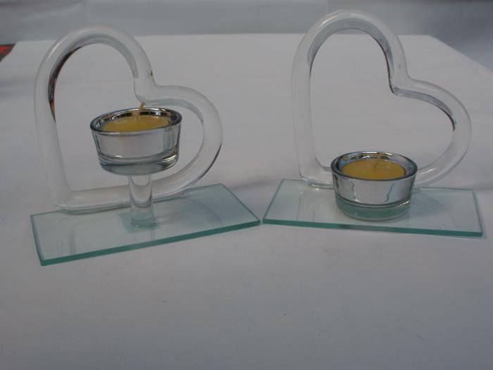 teelichtleuchter herz aus glas 12 5 cm g nstig bei dekodor. Black Bedroom Furniture Sets. Home Design Ideas