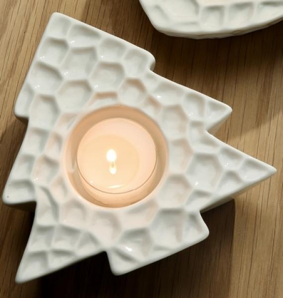 tannenbaum als teelichthalter wei g nstig bei dekodor. Black Bedroom Furniture Sets. Home Design Ideas
