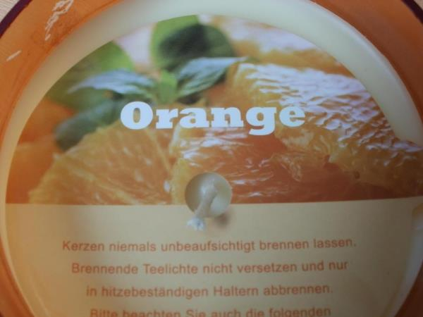 Duftkerze im Glas - Orange