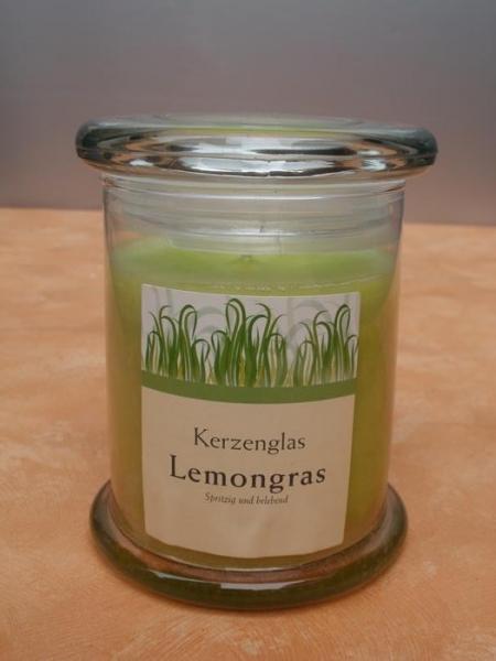kerze im glas deckel lemongras g nstig bei dekodor. Black Bedroom Furniture Sets. Home Design Ideas